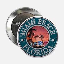 """Miami Beach, Florida 2.25"""" Button"""