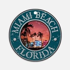 Miami Beach, Florida Ornament (Round)