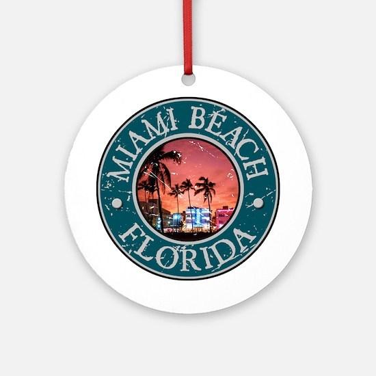 Miami Beach, Florida Ornament (Round)