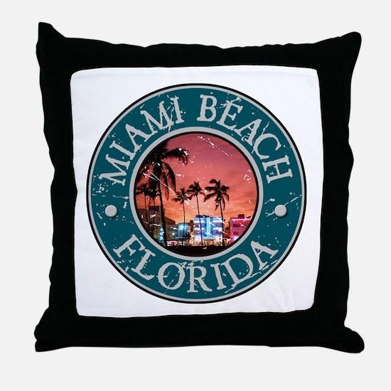 Miami Beach, Florida Throw Pillow