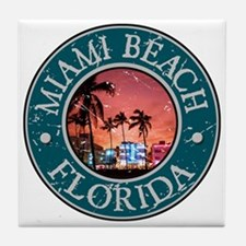 Miami Beach, Florida Tile Coaster