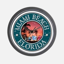 Miami Beach, Florida Wall Clock