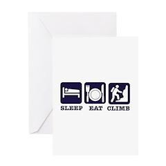 Sleep eat climb Greeting Card