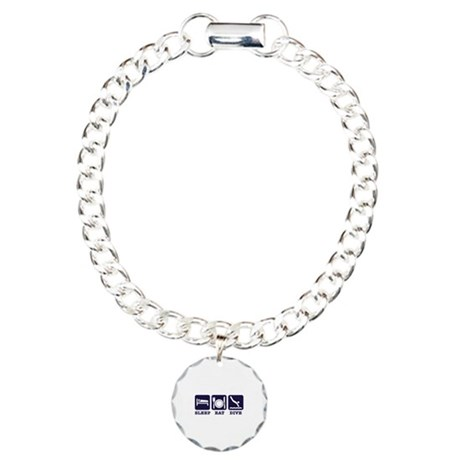 Sleep eat dive Charm Bracelet, One Charm