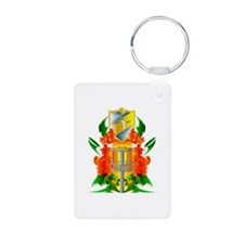 Color Disc Golf Coat of Arms Keychains