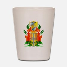 Color Disc Golf Coat of Arms Shot Glass