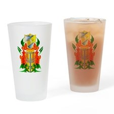 Color Disc Golf Coat of Arms Drinking Glass