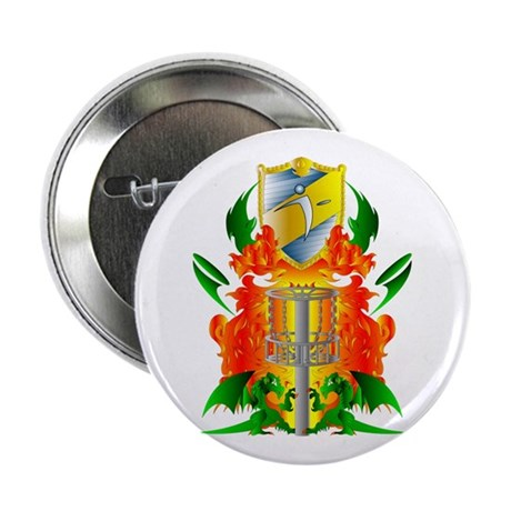 """Color Disc Golf Coat of Arms 2.25"""" Button"""
