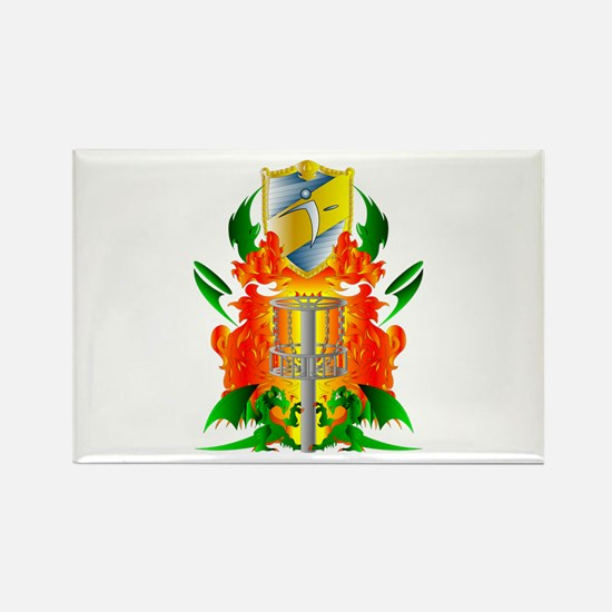 Color Disc Golf Coat of Arms Rectangle Magnet