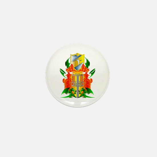 Color Disc Golf Coat of Arms Mini Button