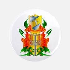 "Color Disc Golf Coat of Arms 3.5"" Button"