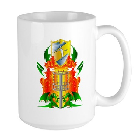 Color Disc Golf Coat of Arms Large Mug