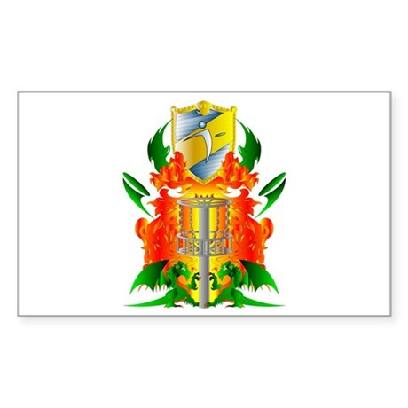Color Disc Golf Coat of Arms Sticker (Rectangle)