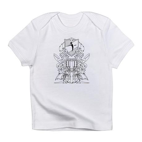 Black/White Disc Golf Coat of Arms Infant T-Shirt