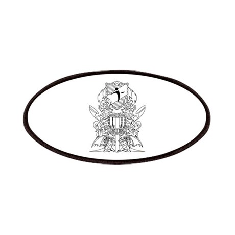 Black/White Disc Golf Coat of Arms Patches