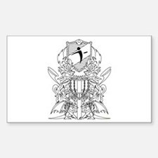 Black/White Disc Golf Coat of Arms Decal