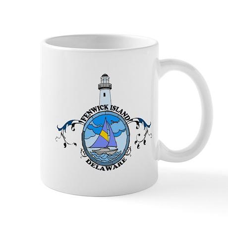 Fenwick Island DE - Lighthouse Design Mug