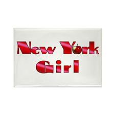 New York Girl Rectangle Magnet