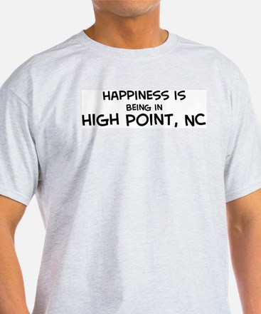 Happiness is High Point Ash Grey T-Shirt