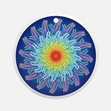 Flower of the Seven Chakras Ornament (Round)