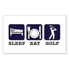 Sleep Eat Golf Decal