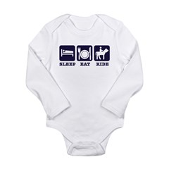 Sleep Eat Ride Long Sleeve Infant Bodysuit