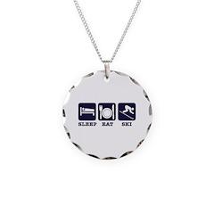 Sleep Eat Ski Necklace