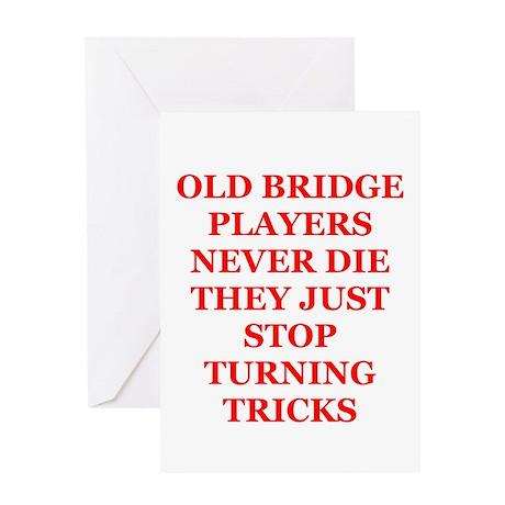 Duplicate bridge Greeting Card