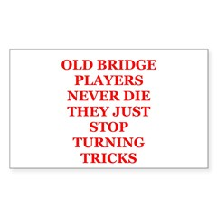 Duplicate bridge Sticker (Rectangle)