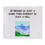 Duplicate bridge Throw Blanket