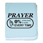 Prayer 0 percent baby blanket