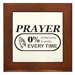 Prayer 0 percent Framed Tile