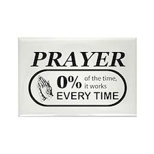 Prayer 0 percent Rectangle Magnet