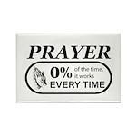 Prayer 0 percent Rectangle Magnet (100 pack)