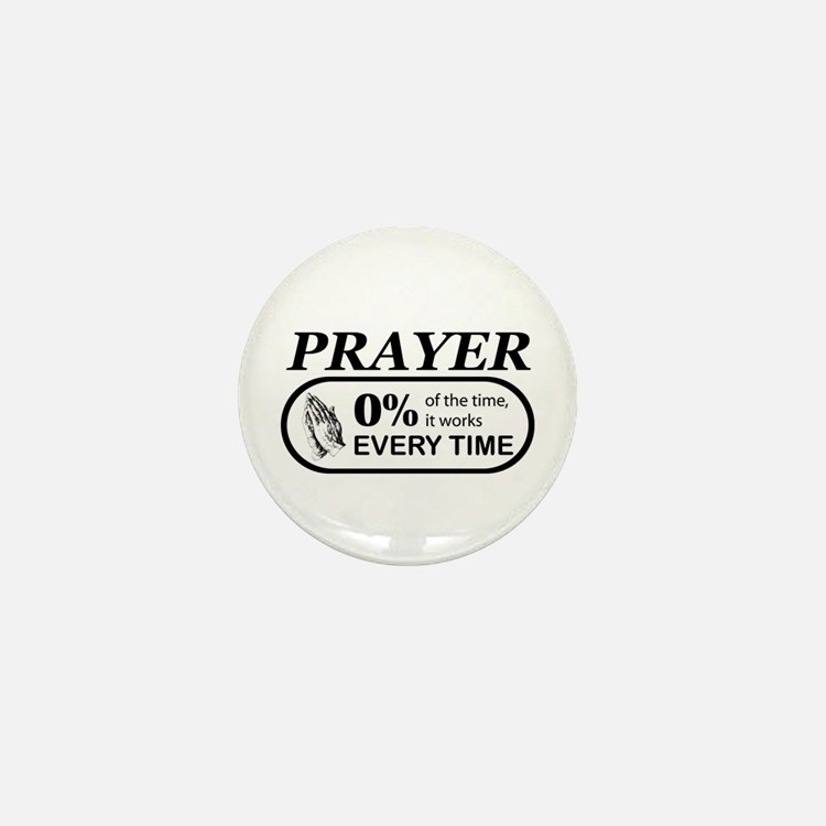 Prayer 0 percent Mini Button