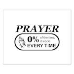 Prayer 0 percent Small Poster