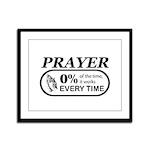 Prayer 0 percent Framed Panel Print