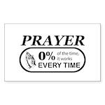 Prayer 0 percent Sticker (Rectangle)