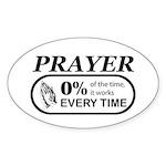 Prayer 0 percent Sticker (Oval)