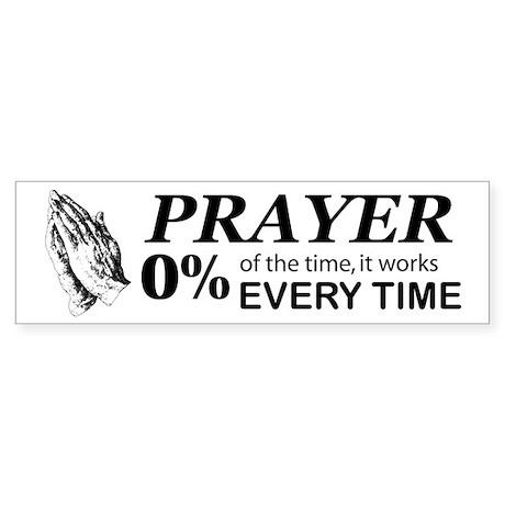 Prayer 0 percent Sticker (Bumper)