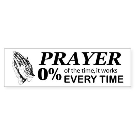 Prayer 0 percent Sticker (Bumper 10 pk)