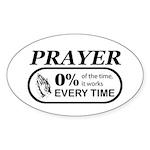 Prayer 0 percent Sticker (Oval 10 pk)