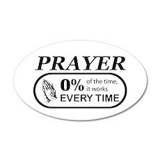 Prayer 0 percent 22x14 Oval Wall Peel