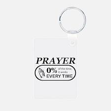Prayer 0 percent Keychains