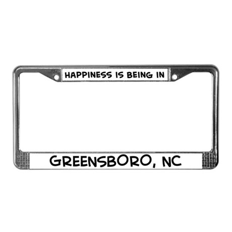 Happiness is Greensboro License Plate Frame