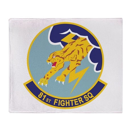 81st Fighter Squadron Throw Blanket
