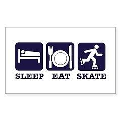Sleep eat skate Sticker (Rectangle 50 pk)