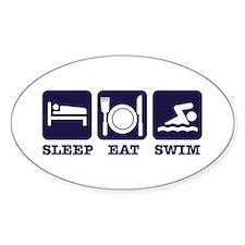 Sleep eat swim Decal