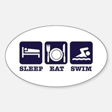 Sleep eat swim Decal