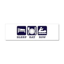 Sleep eat row Car Magnet 10 x 3